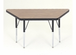 "Activity Table in Medium Oak - Trapezoid 30"" x 30"" x 60"" - Correll Office Furniture - A3060-TRP"
