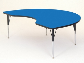 """Activity Table - Kidney Shaped 48"""" x 72"""" - Correll Office Furniture - A4872-KID"""