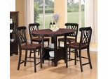 Addison 5-Piece Counter Height Two Tone Table Set - 102228