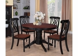 Addison 5-Piece Round Dining Table Set - 103702