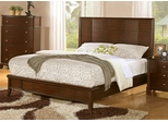 Addley Dark Cherry Low Profile Bed - 202451Q