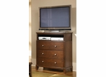 Addley Media Chest in Dark Cherry - 202456