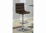 Adjustable Brown Stool with Roll Back - Set of 2 - 120355