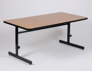 """Adjustable Height Computer Table 24"""" x 60"""" - Correll Office Furniture - CSA2460"""