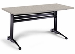 Adjustable Rectangular Table in Nebula Gray - Mayline Office Furniture - TT60RANGRBLK