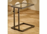 Adjustable Snack Table with Tempered Glass Top - 901016