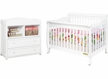 AFG Baby Alice 3 in 1 Convertible Crib and 2 Drawer Changer Combo White