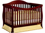 AFG Baby Allie Convertible Crib with Toddler Rail Cherry