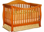 AFG Baby Allie Convertible Crib with Toddler Rail Pecan