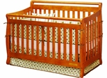 AFG Baby Amy Convertible Crib with Toddler Rail Pecan