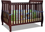 AFG Baby Naomi 4 in 1 Convertible Crib with Toddler Rail Cherry