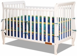 AFG Baby Naomi 4 in 1 Convertible Crib with Toddler Rail White