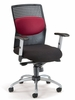 """AirFlo"" Series Executive Chair with Brushed Metal Accents - OFM - 651"