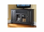 "Alexandria 48"" Corner AroundSound TV Stand in Black - CROSLEY-KF1006AASBK"