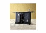 Alexandria Sliding Top Bar Cabinet in Black - CROSLEY-KF40002ABK