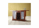 Alexandria Sliding Top Bar Cabinet in Classic Cherry - CROSLEY-KF40002ACH