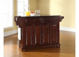 Alexandria Solid Black Granite Top Kitchen Island in Vintage Mahogany - CROSLEY-KF30004AMA
