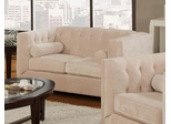 Alexis Almond Loveseat with Track Arms - 504392