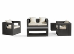 Algarva Outdoor Patio Set in Chocolate - Zuo Modern - ALG-SET