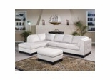 All Leather Sofa Sectional Set in Ivory - 8-Way-Hand-Tied - 9958IV-SET