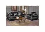 All Leather Sofa Set in Dark Chocolate - 9834DC-SSET