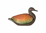 Amber And Green Duck Accent Lamp - Dale Tiffany