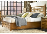 American Drew Americana Home King Platform Bed with 3 Drawers - 114-336R
