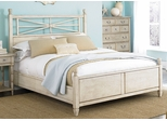 American Drew Americana Home Low Poster King Bed - Weathered White - 114-326WR