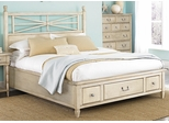 American Drew Americana Home Queen Platform Bed - Weathered White - 114-333WR