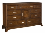 American Drew Essex Triple Dresser with 9 Drawers - 104-220