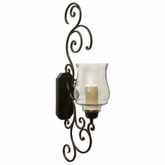 Angelina Grand Scrollwork Candle Sconce - IMAX - 7024