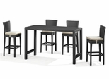 Anguilla Outdoor Patio Set in Chocolate - Zuo Modern - ANG-SET