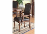 Anson Transitional Arm Chair with Black Upholstery - Set of 2 - 103463