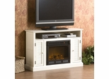 Antebellum Media Antique White Electric Fireplace - Holly and Martin