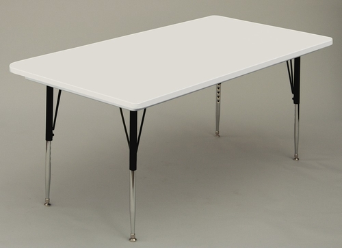 ANTI-MICROBIAL 30x72 Blow Molded Activity Table with Standard leg - Correll Office Furniture - AR3072-AM-STANDARD