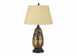 Antique Gold Mosaic Table Lamp - Dale Tiffany