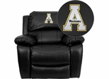 Appalachian State Mountaineers Embroidered Black Leather Rocker Recliner  - MEN-DA3439-91-BK-45000-A-EMB-GG