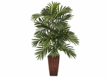 Areca Palm with Bamboo Vase Silk Plant - Nearly Natural - 6675