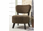 Armless Accent Chair with Leopard Pattern - 900420
