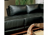Armless Chair in Black Leather - Coaster