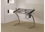 Artist Drafting Table Desk with Glass Top - 800986