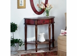 Artists Collection Red Hand Painted Console Table