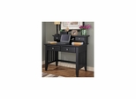 Arts and Crafts Executive Desk with Hutch with 2 Drawers in Black - Home Styles - HS-5181-162