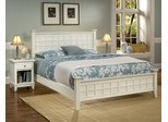 Arts and Crafts Queen Size Bed with Night Stand in White - Home Styles - 5182-5017