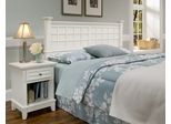 Arts and Crafts Queen Size Headboard and Night Stand in White - Home Styles - 5182-5015