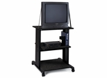 Audio/Visual Cart in Anthracite - Mayline Office Furniture - 1010AVANTFLK