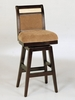 "B385 26"" Counter High Swivel Barstool in Beige Chenille Fabric - Armen Living - LCB385SWBABE26"