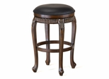 "Backless Fleur de Lis Wood Swivel Counter Stool - 24""(H) - Hillsdale - 62993"