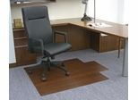 Bamboo Roll-Up Office Chair Mat in Dark Cherry - AMB24006