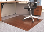 Bamboo Roll-Up Office Chair Mat in Dark Cherry - AMB24013